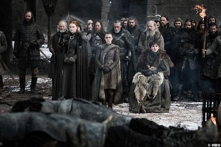 Game Thrones S08e04 Sansa Bran Arya Stark Hound