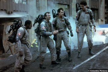 Ghostbusters 1984 Dan Aykroyd Dr Raymond Stantz Bill Murray Dr Peter Venkman Harold Ramis Dr Egon Spengler Ernie Hudson Winston Zeddemore