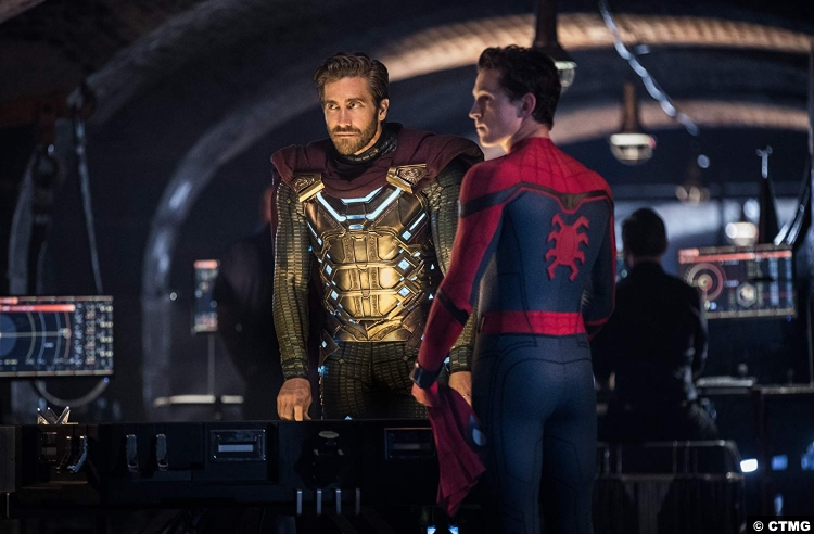 Spider Man Far From Home Jake Gyllenhaal Quentin Beck Mysterio Peter Parker Tom Holland
