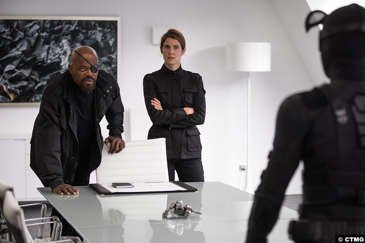 Spider Man Far From Home Samuel L Jackson Nick Fury Cobie Smulders Maria Hill