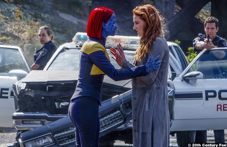 X Men Dark Phoenix Jennifer Lawrence Raven Mystique Sophie Turner Jean Grey