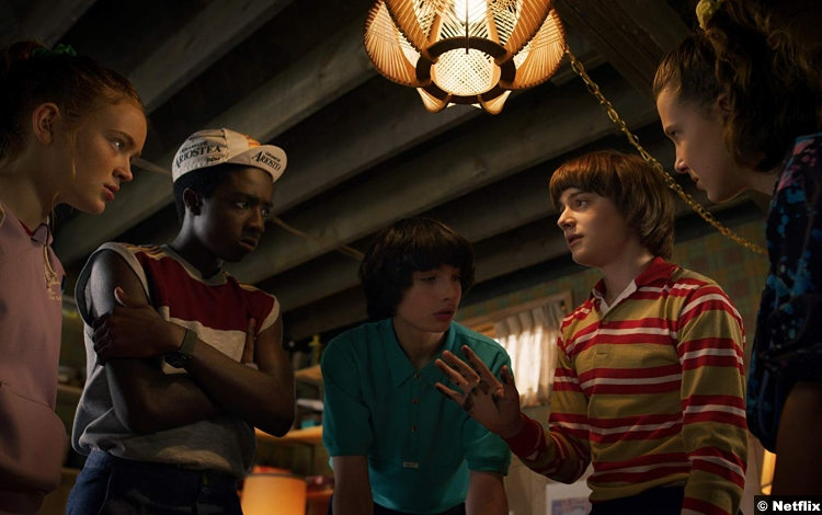 Stranger Things S3 Caleb Mclaughlin Sadie Sink Millie Bobby Brown Finn Wolfhard Noah Schnapp Lucas Sinclair Max Mayfield Eleven Mike Wheeler Will Byers