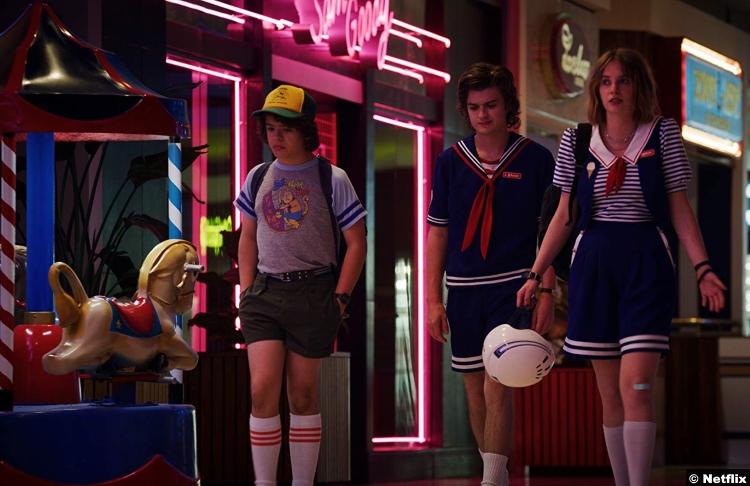 Stranger Things S3 Maya Hawke Joe Keery Gaten Matarazzo Robin Steve Harrington Dustin Henderson