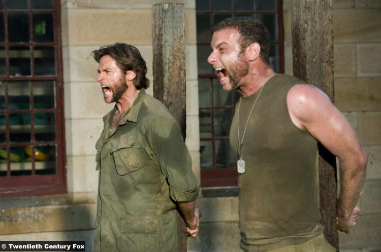 X Men Origins Wolverine Hugh Jackman Liev Schreiber Sabretooth 2