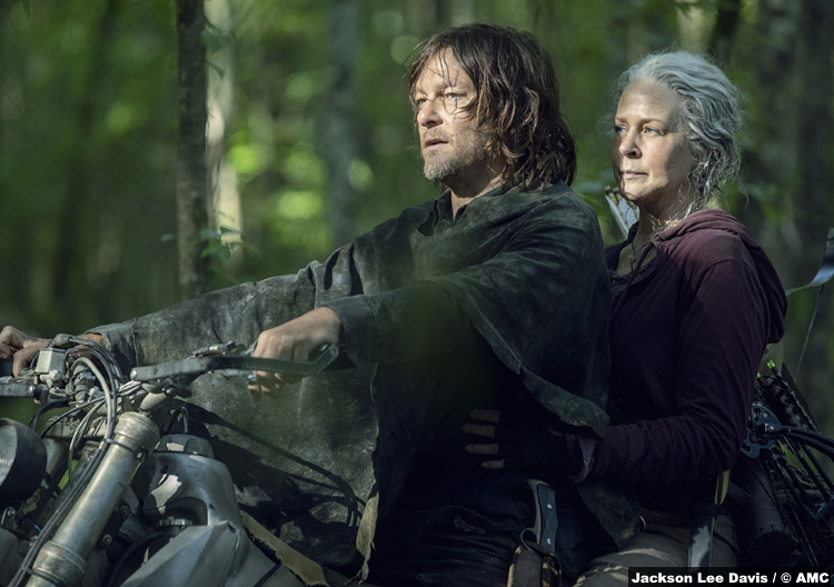 Walking Dead S10e01 Carol Peletier Melissa Mcbride Daryl Norman Reedus