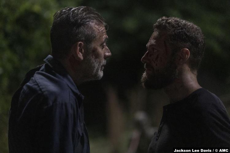 Walking Dead S10e03 Jeffrey Dean Morgan Negan Ross Marquand Aaron
