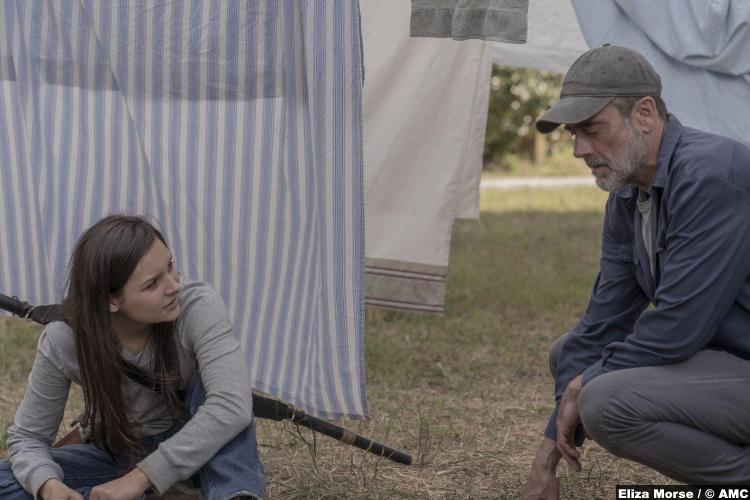 Walking Dead S10e04 Cassady Mcclincy Lydia Jeffrey Dean Morgan Negan