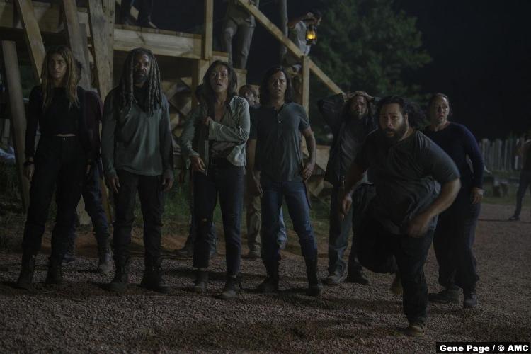 Walking Dead S10e04 Nadia Hilker Magna Khary Payton Ezekiel Cooper Andrews Jerry Eleanor Matsuura Yumiko Dan Fogler Luke Kerry Cahill Dianne