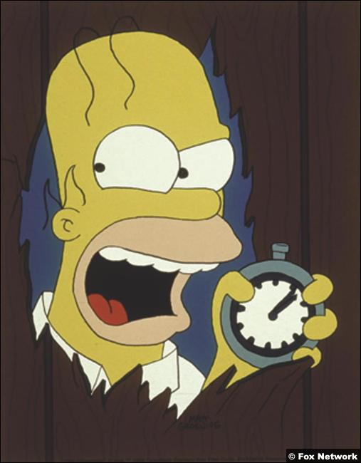 Homer Simpson Shining