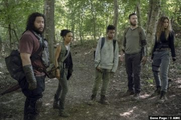 Walking Dead S10e08 Cooper Andrews Jerry Ross Marquand Aaron Lauren Ridloff Connie Angel Theory Kelly Nadia Hilker Magna
