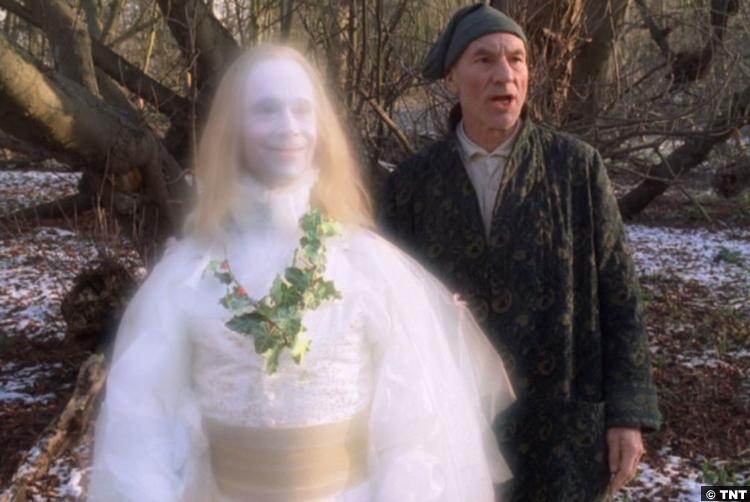 Christmas Carol 1999 Joel Grey Past Ghost Patrick Stewart Ebenezer Scrooge