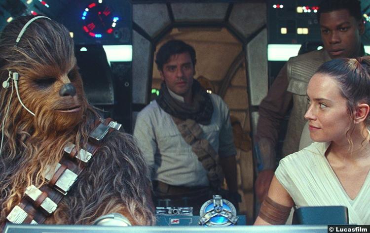 Star Wars Rise Skywalker Daisy Ridley Rey John Boyega Finn Oscar Isaac Poe Dameron Chewbacca