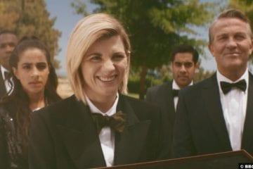 Doctor Who S012e01 Yasmin Mandip Gill Ryan Tosin Cole Jodie Whittaker Graham Bradley Walsh Sacha Dhawan Master