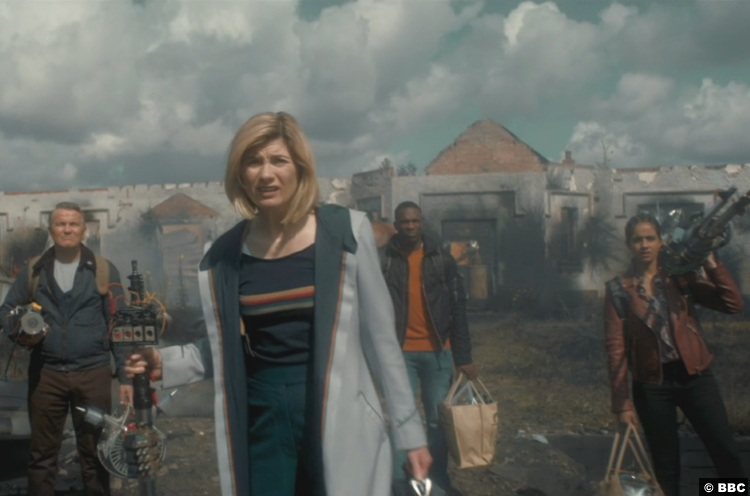 Doctor Who S012e09 Yasmin Mandip Gill Ryan Tosin Cole Jodie Whittaker Graham Bradley Walsh