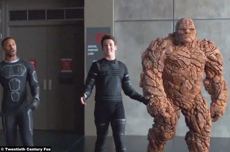 Fantastic Four 2015 Michael Jordan Johnny Storm Miles Teller Reed Richards Jamie Bell Thing