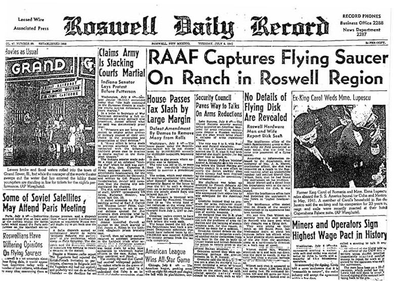 Roswell Daily Record July 1947 1