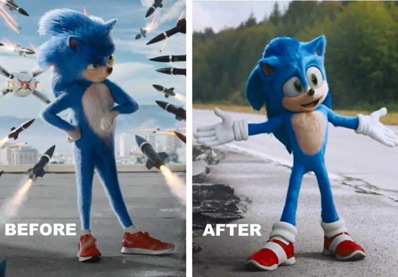 Sonic Hedgehog Before After
