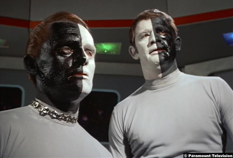Star Trek S03e15 Lou Antonio Frank Gorshin Lokai Bele 2