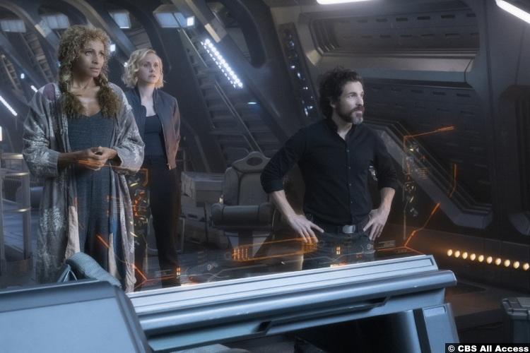 Picard S01e07 Alison Pill Jurati Santiago Cabrera Rios Michelle Hurd Raffi