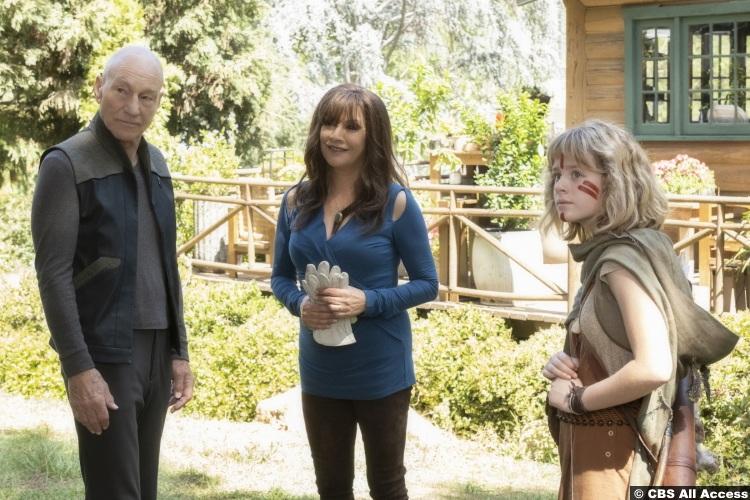 Picard S01e07 Patrick Stewart Jean Luc Marina Sirtis Deanna Troi Lulu Wilson Kestra