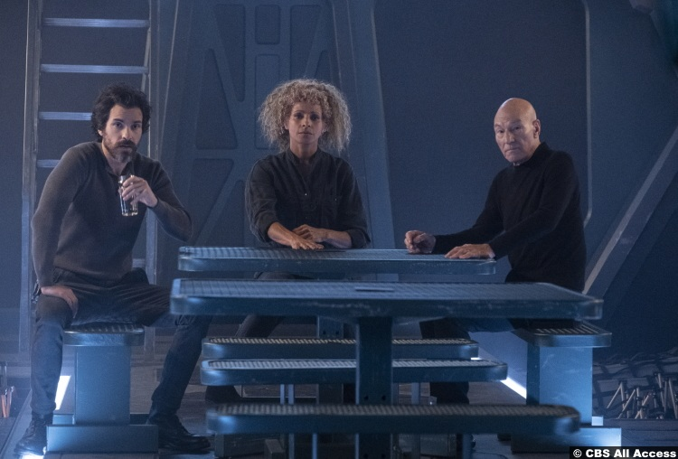 Picard S01e08 Santiago Cabrera Chris Rios Patrick Stewart Jean Luc Michelle Hurd Raffi