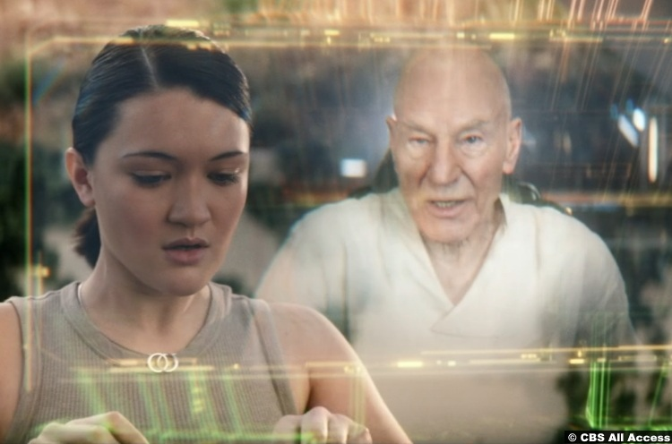 Picard S01e10 Patrick Stewart Jean Luc Isa Briones Soji