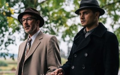 Project Blue Book S02e07 Michael Malarkey Captain Michael Quinn Aiden Gillen Dr Allen Hynek