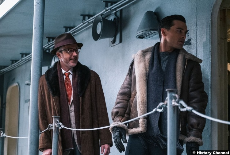 Project Blue Book S02e10 Michael Malarkey Captain Michael Quinn Aiden Gillen Dr Allen Hynek 2