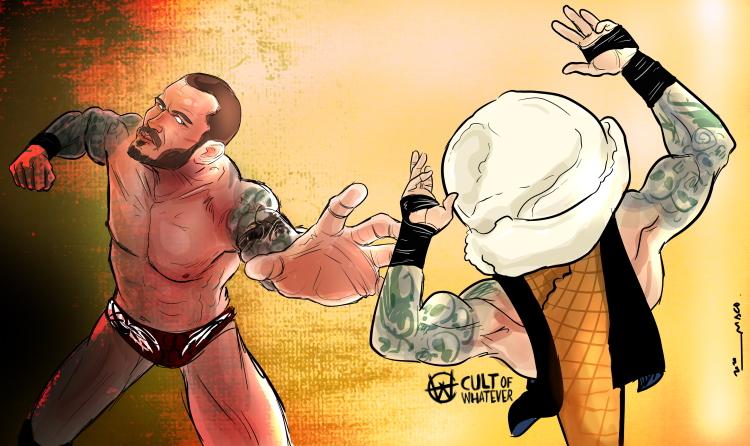 Randy Orton Vanilla Ice Cream Cartoon Illustration