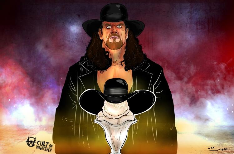 The Undertaker Snickerdoodle Ice Cream Cartoon Illustration