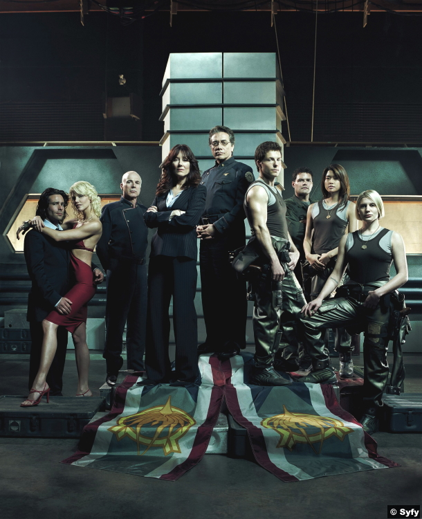 Battlestar Galactica Group Cast
