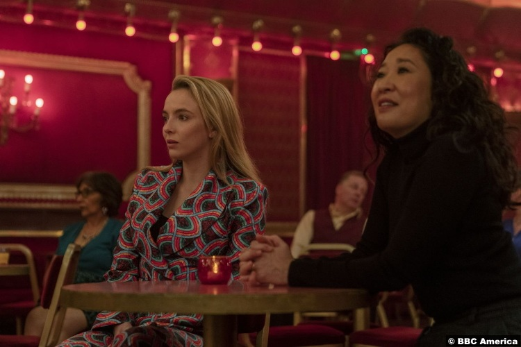 Killing Eve S03e08 Jodie Comer as Villanelle and Sandra Oh as Eve Polastri