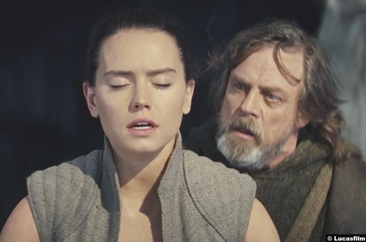 Star Wars Last Jedi Daisy Ridley Rey Mark Hamill Luke Skywalker 5