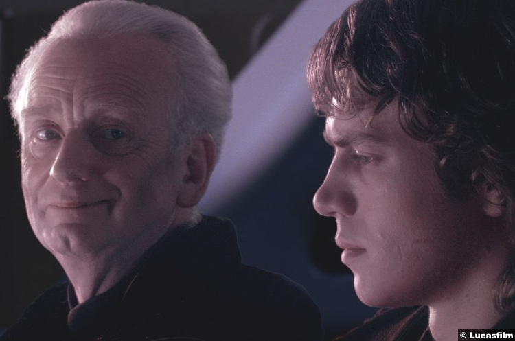 Star Wars Revenge of the Sith Ian McDiarmid Sheev Palpatine Emperor Darth Sidious Anakin Skywalker Hayden Christensen