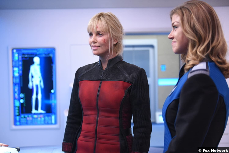 The Orville S01e05 Charlize Theron Adrianne Palicki Pria Lavesque Kelly Grayson