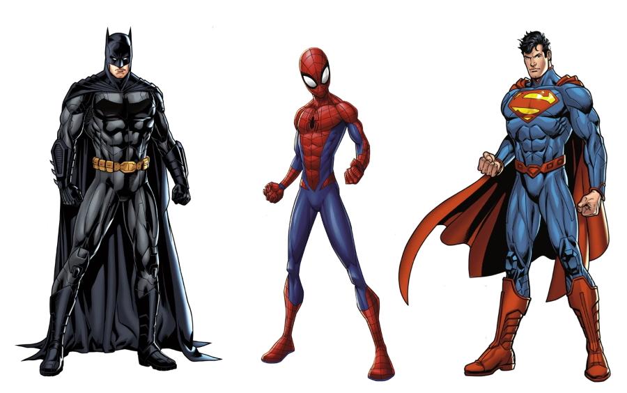 Marvel Dc Fatheads Batman Spiderman Superman