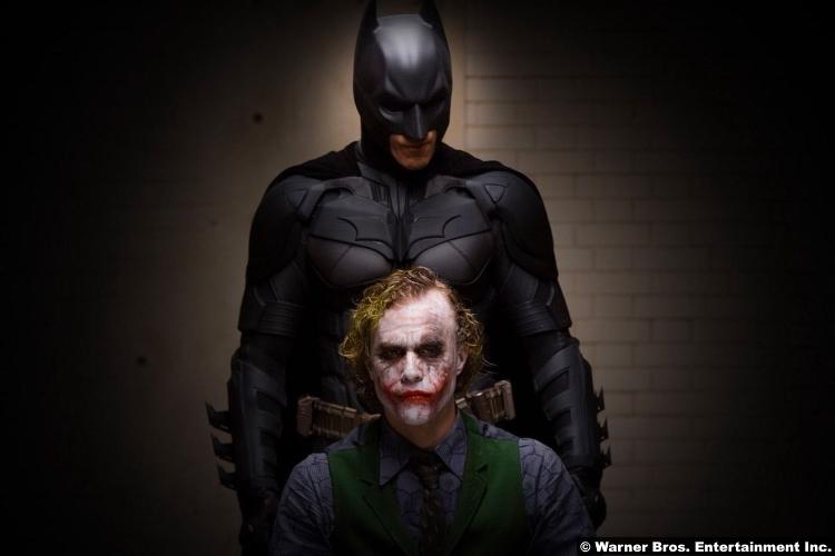 The Dark Knight Christian Bale Batman Heath Ledger The Joker