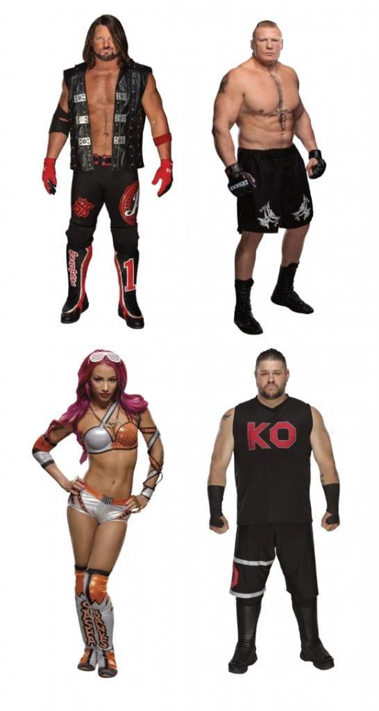 Wwe Fatheads Aj Styles Brock Lesnar Sasha Banks Kevin Owens