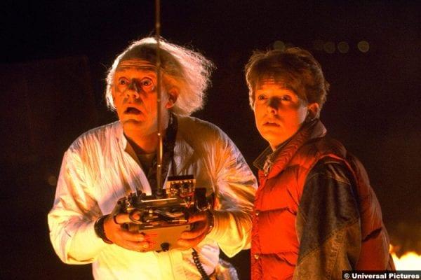 Back To The Future Christopher Lloyd Michael J Fox