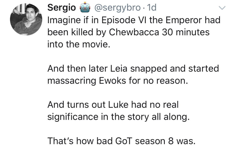 Sergio's Star Wars Game of Thrones comparison