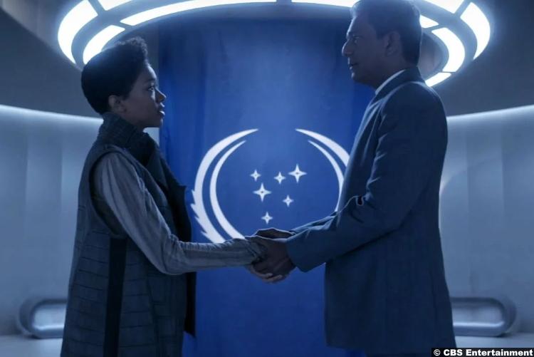 Star Trek Discovery S03e01 Sonequa Martin Green Adil Hussain Michael Burnham Aditya Sahil