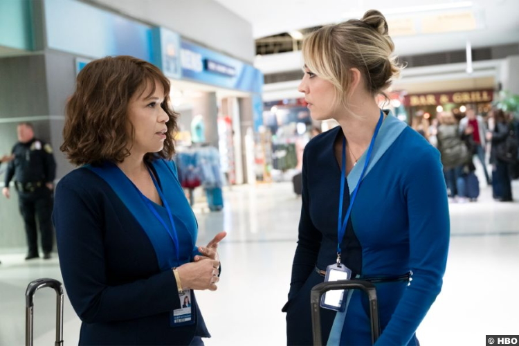 The Flight Attendant S01 Rosie Perez Kaley Cuoco