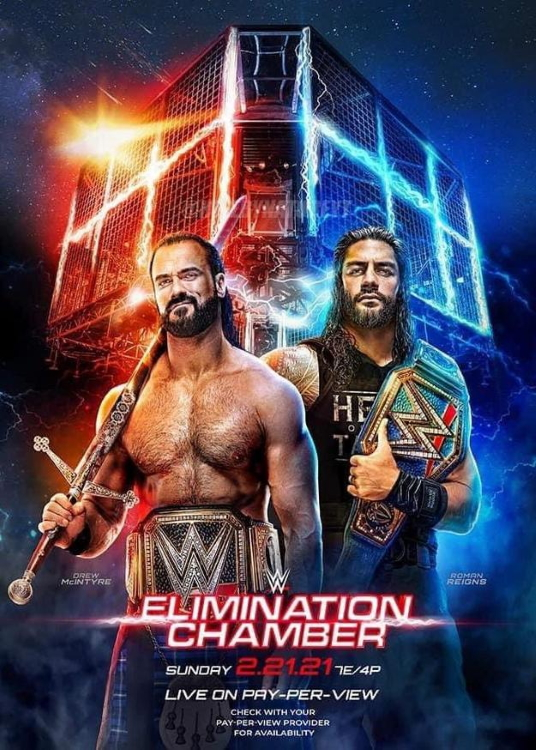 WWE Elimination Chamber 2021 Poster