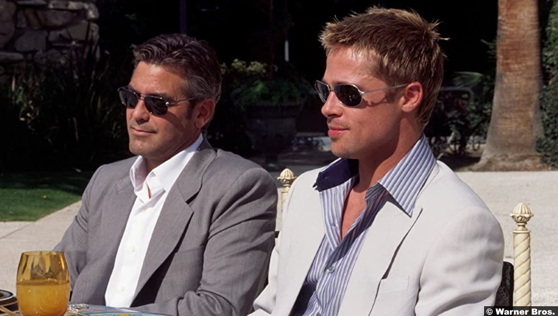 Ocean's Eleven George Clooney and Brad Pitt