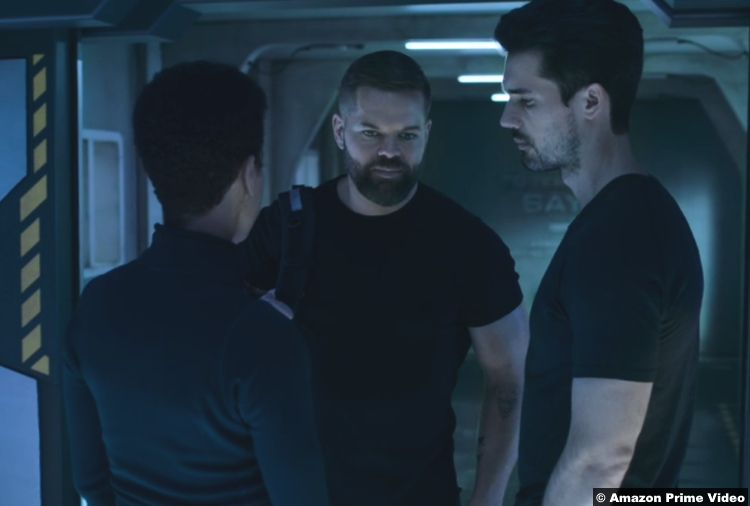 The Expanse S05e10 Dominique Tipper Wes Chatham Steven Strait as Naomi Amos James