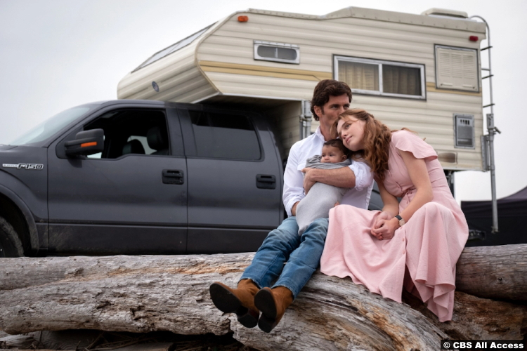 The Stand S01e09 James Marsden and Odessa Young as Stu Redman and Frannie Goldsmith