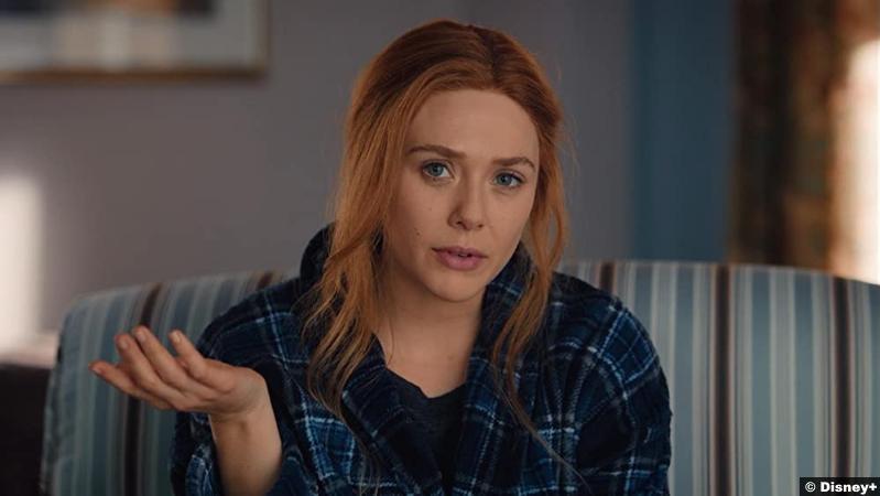 Wandavision S01e07 Elizabeth Olsen as Wanda Maximoff aka Scarlet Witch