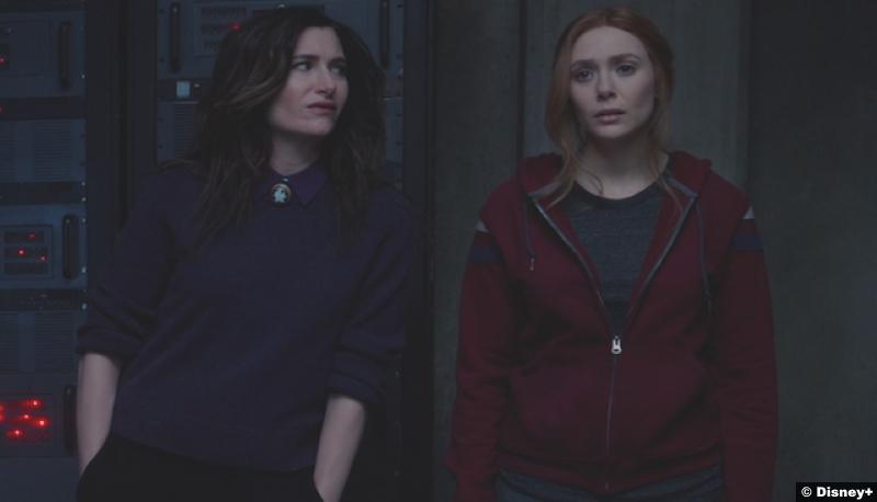 Wandavision S01e08 Kathryn Hahn and Elizabeth Olsen as Agatha Harkness and Wanda Maximoff aka Scarlet Witch