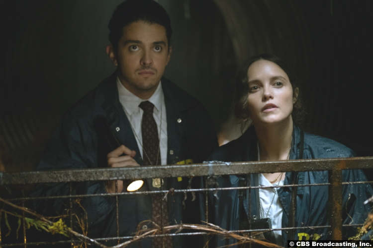 Clarice S01e01 Lucca de Oliveira and Rebecca Breeds as Tomas Esquivel and Clarice Starling