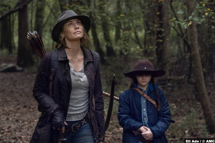 The Walking Dead S10e17 Lauren Cohan and Cailey Fleming as Maggie and Judith Grimes